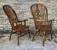 Pair of Antique Broad Arm Windsor Chairs (4 of 28)