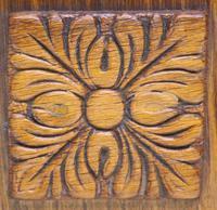 Antique German Arts & Crafts Mantel Clock Carved Detail 8 Day Mantle Clock (2 of 9)