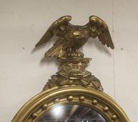 Regency Period Convex Mirror Eagle pediment (3 of 4)