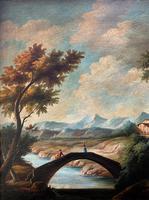 Substantial! Original Italian Landscape Oil by Follower of 17th Century Gaspard Dughet (8 of 15)