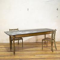 18th Century Faux Quilted Maple Painted Swedish Table (4 of 16)
