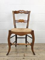 Set of Four Antique French Fruitwood Dining Chairs (3 of 9)
