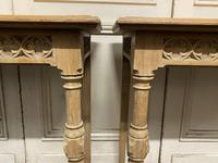 Pair of Bleached Oak Console Tables (11 of 16)