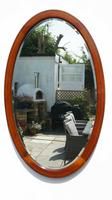 Early 20th Century Oval Overmantle Mirror 79 cm x 49 cm (3 of 11)