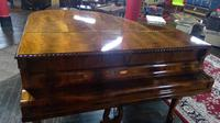 Elegant English Eavestaff Queen Anne Style Grained Walnut Grand Piano with Matching Duet Piano Stool (5 of 8)