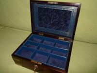 Unisex Inlaid Rosewood Jewellery Box + Tray c.1840