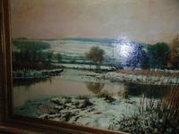 Large Victorian Oil Landscape by C.J.Fox (3 of 5)