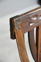 6 Arts & Crafts Carved Oak Chairs (11 of 12)