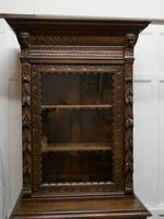 Pair of French Carved Gothic Oak Bookcases (7 of 12)