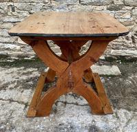 Antique Swedish Pine X-frame Trestle Table (18 of 21)