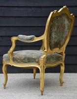 Beautiful Matched Pair of Fine Quality French Gilt Armchairs c.1900 (4 of 18)