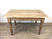 Antique Pine Farmhouse Kitchen Table with Drawer (3 of 13)
