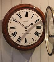 Large Oak Factory Wall Dial Clock (6 of 8)