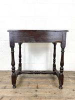 18th Century Antique Oak Side Table with Drawer (10 of 10)