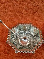 Antique Sterling Silver Pair of Salts & Matching Spoons 1899 William Devenport (2 of 12)