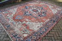 Antique Serapi Heriz Carpet 374x260cm (5 of 13)