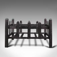 Antique Fireplace Grate, English, Cast Iron, Fire Basket, Late Victorian c.1900 (2 of 10)