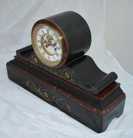French Slate Mantel Clock Visible Escapement (5 of 5)