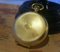 Vintage Pocket Watch 1970s Swiss Avia 17 Jewel 12ct Gold Plated Full Hunter Fwo (3 of 12)