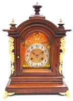 Fantastic Antique German HAC Bracket Clock – 8 Day Striking Mantel Clock c.1900 (3 of 12)