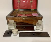 Victorian Rosewood Inlaid Vanity Box (7 of 14)
