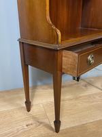Mahogany Open Bookcase with Drawer (4 of 6)