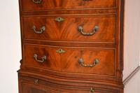 Antique Georgian Style Mahogany Serpentine Fronted Chest on Chest (4 of 10)