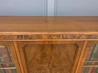 Burr Walnut Bookcase/Side Cabinet (8 of 15)
