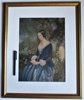 The Day Before Marriage, Colour Print by George Baxter, 1854, Framed (9 of 9)