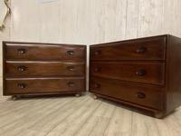 Pair of Ercol Elm Chest of Drawers (4 of 5)