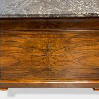 Figured Walnut & Marble Top Commode (12 of 16)