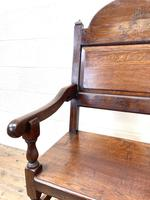 Pair of Antique Oak Throne Chairs (8 of 13)