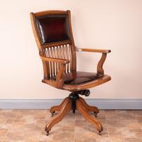 Teak Revolving Office Desk Chair (4 of 17)