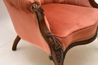 Antique Victorian Carved  Mahogany Armchair (6 of 11)