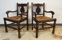 Antique Breton Side Table with Rush Seats (10 of 15)