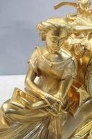 French Napoleon III Bronze Gilt Mantel Clock by Miroy Freres (7 of 13)