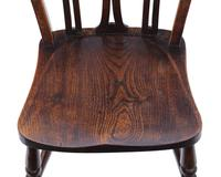Set of 4 Elm & Beech Kitchen Dining Chairs c.1900 (7 of 7)