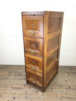 Antique Oak Four Drawer Filling Cabinet (5 of 12)