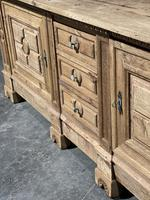 Large French Bleached Oak French Sideboard (9 of 24)
