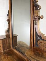 Antique 19th Century Concave Mahogany Dressing Table (13 of 21)