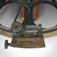 Antique Maritime Sextant, Brass, Admiralty, Naval, Instrument, Victorian c.1900 (8 of 12)