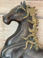 Circa 1920 Gilt Bronze Sporting Pacing Horse Statue Influenced By Giambologna (5 of 42)