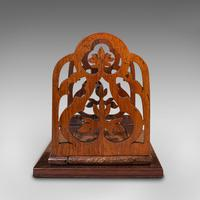 Antique Book Slide, English, Rosewood, Mahogany, Library Stand, Victorian c.1900 (5 of 12)