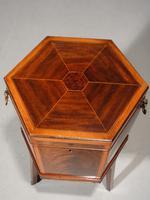 Good George III Period Hexagonal Mahogany Wine Cooler (6 of 6)