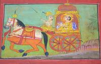 Charming 18th Century Indian Watercolour Prince in Carriage (3 of 5)