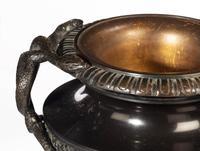 Handsome Pair of 19th Century Bronze Neoclassic Urns (3 of 7)