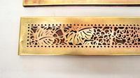 "Pair Tiffany Studios 12"" Brass Plated Desk Set  Blotter Ends 998  Grapevine (13 of 15)"