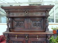 Country Oak Court Cupboard 1800 Superb Carving (6 of 12)