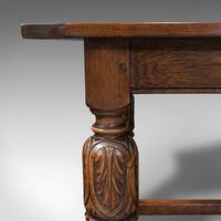 Antique Refectory Table, English, Oak, Dining, Jacobean Revival, Edwardian c.1910 (10 of 12)
