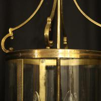French Gilded Triple Light Antique Lantern (6 of 10)